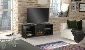 huntington electric fireplace tv stand in black walnut 18mm6037 pw07s