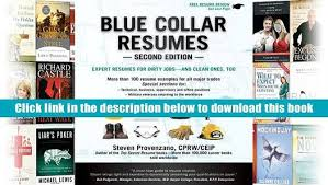 Pdf Blue Collar Resumes Steve Provenzano For Kindle Video Dailymotion