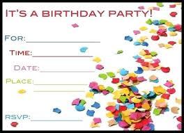 Create Birthday Invitations Free Feat Birthday Party