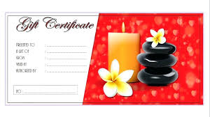 Free Gift Voucher Template For Word Certificate Templates Breathtaking Spa Gift Template Word Sample To
