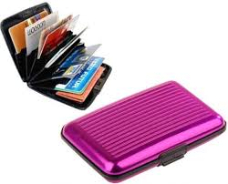 Aluminum Aluma Credit Card Holder Wallet Case Purse Pink