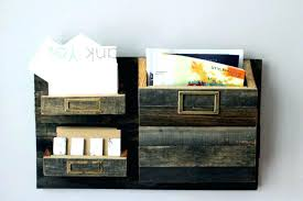 wall mounted mail organizer wooden home design ideas hanging