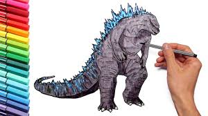 Godzilla coloring pages to download and print for free perfect godzilla coloring pages 75 in coloring site with godzilla godzilla coloring page Godzilla Coloring Pages For Kids To Learn Colors Draw And Color Godzilla Giant Dinosaur Youtube