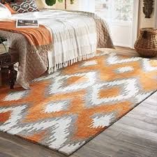 an area rug under a bed