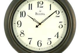 bulova wall clock indoor outdoor wall wood clock black hands cream dial a a