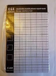 Iphone 6 Plus Screw Size Chart Screw Position Memory Pad For Iphone 6 6s 6plus Magnetic Screw Mat Repair Guide Ebay