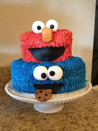 Sesame Street Cake Elmo And Cookie Monster Birthday Cake Elmo Cake