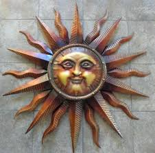 metal sun wall art outdoor