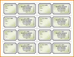 Template For Raffle Tickets To Print Free Raffle Ticket Template Geminifmtk Print Your Own Raffle Tickets