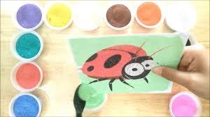 Đồ chơi trẻ em TÔ MÀU TRANH CÁT BỌ CÁNH CAM - Colored Sand Paiting - YouTube