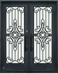 Double Wrought Iron Door With Swirl Centres Ideas For The House - Iron exterior door