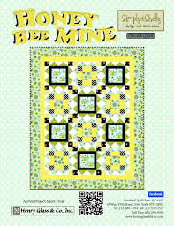 Honey Bee Mine Pieced Quilt , Projects, Henry Glass & Co., Inc. & Honey Bee Mine Pieced Quilt Adamdwight.com