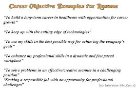 Resume Objective Example For Call Center Job Objectives Samples