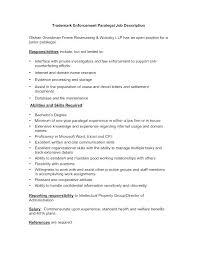 Legal Assistant Job Description Resume