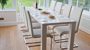 Dazzling White Gloss Extendable Dining Table With White Luca Home