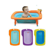 deluxe folding baby bath tub orange mint
