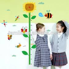Kindergarten Height Chart Sunflower Childrens Height Decorative Wall Sticker Kindergarten Height Growth Chart Kids Diy Sticker Rooms Home Decor Buy 3d Wall Stickers Home