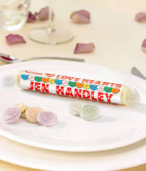 personalised giant love hearts place name settings personalise me