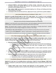 Executive Resume Sample Chief Financial Officer Executive Resume