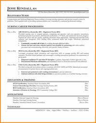 Registered Nurse Resume Sample Format Lcysne Com