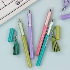creative office supplies. 4PCS New Cute Tassel Pendant Gel Pen Creative Gift School Office Stationery Writing Supplies 05mm