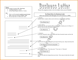 8 Parts Of A Business Letter The Letter Sample