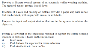 Vending Machine Selection Buttons Amazing Solved Develop A Discrete Control System Of An Automatic
