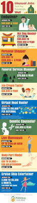 Infographic 10 Unusual Jobs That Pay Surprisingly Well Noomii