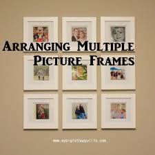 multiple empty picture frames. Arranging Multiple Picture Frames On The Wall | Mybigfathappylife.com Empty