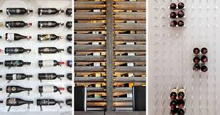 Wall wine racks Modern Wine Rack Ideas Show Off Your Bottles With Wall Mounted Display Contemporist Wine Rack Ideas Show Off Your Bottles With Wall Mounted Display
