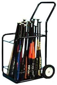 TC Sports Baseball Storage Bat Rack Cart