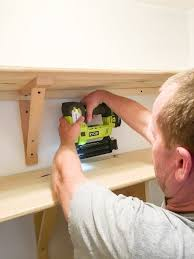 how to build diy pantry shelves with a nail
