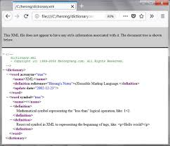 Viewing Xml File Using Mozilla Firefox As An Xml Browser