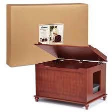 hidden cat box furniture. Cat Litter Furniture Meow Town Hidden Box Enclosure Amp Bench