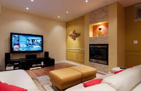 family room lighting ideas. exciting family living room with home theater and fireplace also white sofa lighting ideas e
