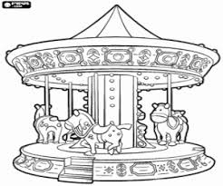 Carrousel Kleurplaat Carousel Horse Coloring Pages For Kids Best