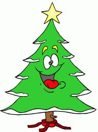 Happy Cartoon Christmas Trees   Cartoon Tree With Funny Face