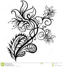 нарисованный рукой вектор эскиза татуировки лилий цветков