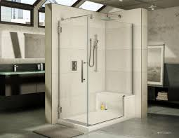 shower enclosures with bench. Beautiful Shower Titan Frameless 2 Sided Corner Glass Enclosure Paired With Acrylic Base  Bench Seat For Shower Enclosures With Bench E