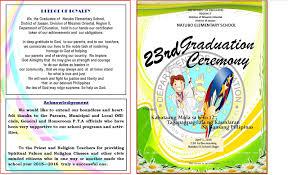 Graduation Program Template Pdf 2015 2016 Graduation Program New Template Deped Lps