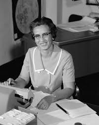 mathematician katherine johnson at work nasa