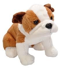 english bulldog cuddlekins sitting dog  inch stuffed animal by