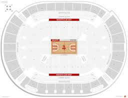Houston Rockets Seating Guide Toyota Center