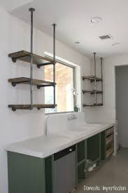 Amazing Diy Industrial Shelving Pipe Kitchen Domestic Imperfection D I Y  Idea And Desk Lowe Ikea Hylli Style