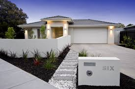 exterior facade of a contemporary australian home near the beach