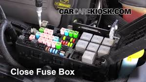 replace a fuse 2010 2014 ford mustang 2012 ford mustang gt 5 0l 6 replace cover secure the cover and test component