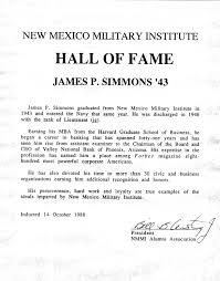 1988 Mr James Pat Simmons 1943 Jc New Mexico Military Institute