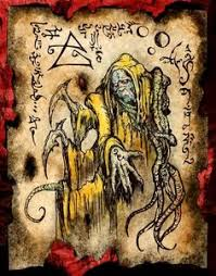 king in yellow nightmare cthulhu larp necronomicon scrolls dark witchcraft magick old booksold book pagesbook
