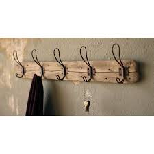 Wall Coat Rack Walmart Extraordinary Recycled Wood WallMount Coat Rack Walmart