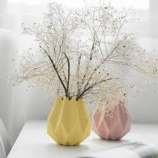 <b>Nordic</b> Modern <b>Ceramic Vase</b> Macaron Origami White Pink Light ...